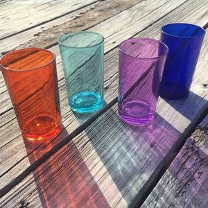4 Color Pop Home Essentials Juice/Cocktail Glasses
